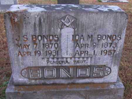 BONDS, J S - Pope County, Arkansas | J S BONDS - Arkansas Gravestone Photos