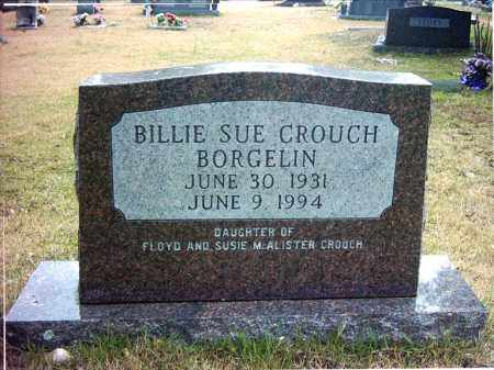 CROUCH BORGELIN, BILLIE SUE - Pope County, Arkansas | BILLIE SUE CROUCH BORGELIN - Arkansas Gravestone Photos