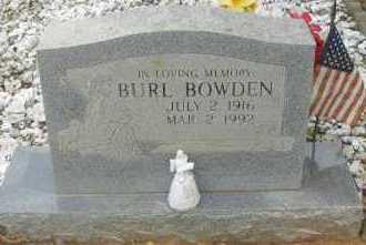 BOWDEN, BURL - Pope County, Arkansas | BURL BOWDEN - Arkansas Gravestone Photos