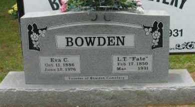 "BOWDEN, L T ""FATE"" - Pope County, Arkansas 