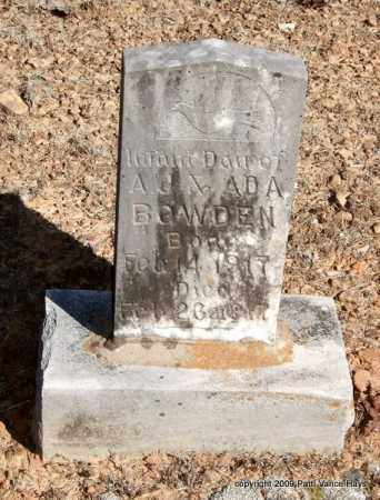 BOWDEN, INFANT DAUGHTER - Pope County, Arkansas | INFANT DAUGHTER BOWDEN - Arkansas Gravestone Photos