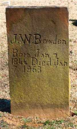 BOWDEN, J. W. - Pope County, Arkansas | J. W. BOWDEN - Arkansas Gravestone Photos
