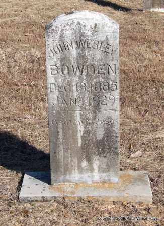 BOWDEN, JOHN WESLEY - Pope County, Arkansas | JOHN WESLEY BOWDEN - Arkansas Gravestone Photos