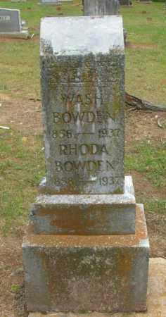 BOWDEN, WASH - Pope County, Arkansas | WASH BOWDEN - Arkansas Gravestone Photos