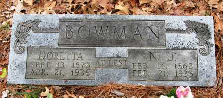 BOWMAN, N J - Pope County, Arkansas | N J BOWMAN - Arkansas Gravestone Photos