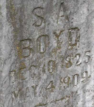 BOYD, SAMUEL A. (CLOSEUP) - Pope County, Arkansas | SAMUEL A. (CLOSEUP) BOYD - Arkansas Gravestone Photos