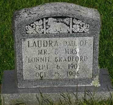 BRADFORD, LAUDRA - Pope County, Arkansas | LAUDRA BRADFORD - Arkansas Gravestone Photos