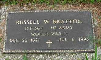 BRATTON  (VETERAN WWII), RUSSELL W - Pope County, Arkansas | RUSSELL W BRATTON  (VETERAN WWII) - Arkansas Gravestone Photos