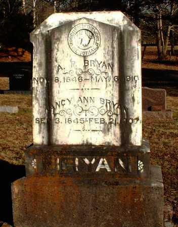 BRYAN, NANCY ANN - Pope County, Arkansas | NANCY ANN BRYAN - Arkansas Gravestone Photos