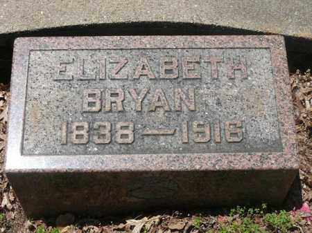 BRYAN, ELIZABETH - Pope County, Arkansas | ELIZABETH BRYAN - Arkansas Gravestone Photos