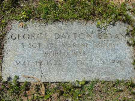BRYAN (VETERAN WWII), GEORGE DAYTON - Pope County, Arkansas | GEORGE DAYTON BRYAN (VETERAN WWII) - Arkansas Gravestone Photos