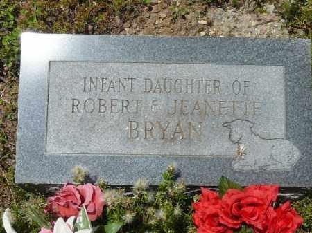 BRYAN, INFANT DAUGHTER - Pope County, Arkansas   INFANT DAUGHTER BRYAN - Arkansas Gravestone Photos