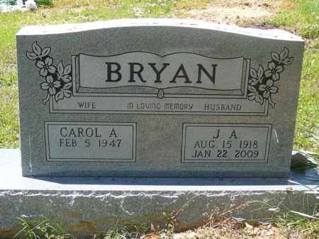 BRYAN, JA - Pope County, Arkansas | JA BRYAN - Arkansas Gravestone Photos