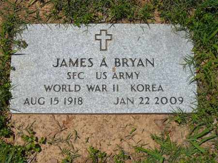 BRYAN (VETERAN 2 WARS), JAMES A - Pope County, Arkansas | JAMES A BRYAN (VETERAN 2 WARS) - Arkansas Gravestone Photos