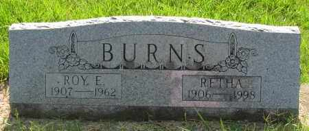 BURNS, ROY E - Pope County, Arkansas | ROY E BURNS - Arkansas Gravestone Photos