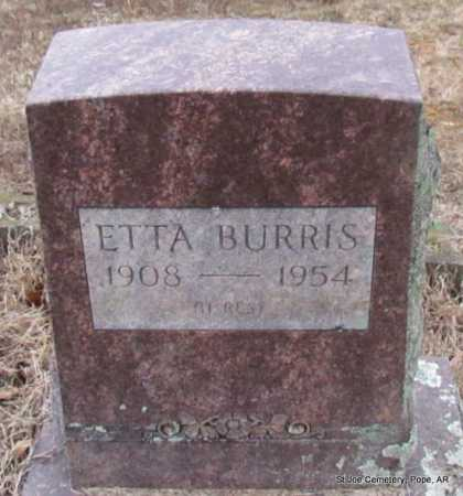 BURRIS, ETTA - Pope County, Arkansas | ETTA BURRIS - Arkansas Gravestone Photos