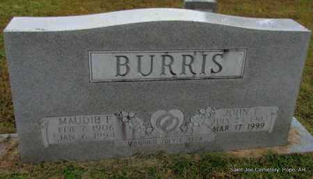 BURRIS, MAUDIE F - Pope County, Arkansas | MAUDIE F BURRIS - Arkansas Gravestone Photos