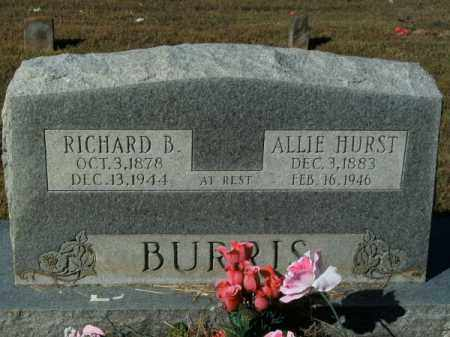 HURST BURRIS, ALLIE - Pope County, Arkansas | ALLIE HURST BURRIS - Arkansas Gravestone Photos