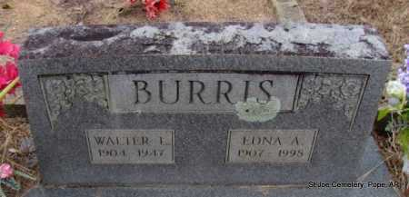 BURRIS, WALTER L - Pope County, Arkansas | WALTER L BURRIS - Arkansas Gravestone Photos