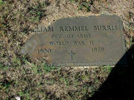 BURRIS (VETERAN WWII), WILLIAM REMMEL - Pope County, Arkansas | WILLIAM REMMEL BURRIS (VETERAN WWII) - Arkansas Gravestone Photos