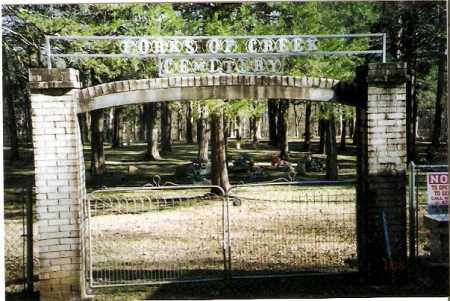 *FORKS OF CREEK CEMETERY GATE,  - Pope County, Arkansas |  *FORKS OF CREEK CEMETERY GATE - Arkansas Gravestone Photos