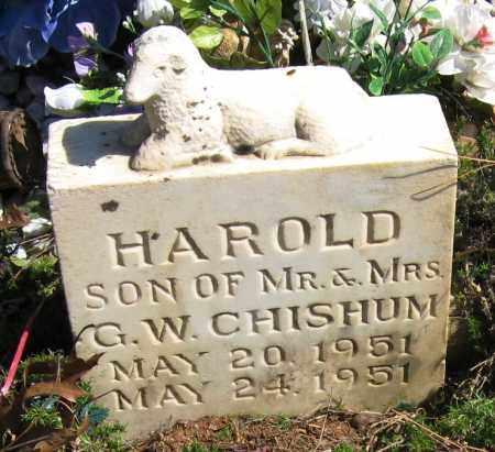 CHISHUM, HAROLD - Pope County, Arkansas   HAROLD CHISHUM - Arkansas Gravestone Photos
