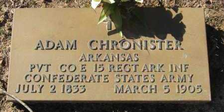 CHRONISTER  (VETERAN CSA), ADAM - Pope County, Arkansas | ADAM CHRONISTER  (VETERAN CSA) - Arkansas Gravestone Photos
