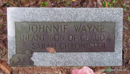 CHRONISTER, JOHNNIE WAYNE - Pope County, Arkansas | JOHNNIE WAYNE CHRONISTER - Arkansas Gravestone Photos