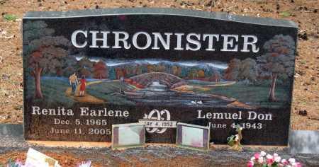 CHRONISTER, RENITA EARLENE - Pope County, Arkansas | RENITA EARLENE CHRONISTER - Arkansas Gravestone Photos