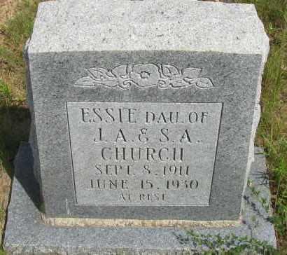CHURCH, ESSIE - Pope County, Arkansas | ESSIE CHURCH - Arkansas Gravestone Photos