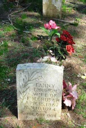 CHURCH, FANNY - Pope County, Arkansas | FANNY CHURCH - Arkansas Gravestone Photos