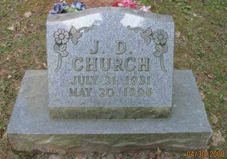 CHURCH, J D - Pope County, Arkansas | J D CHURCH - Arkansas Gravestone Photos