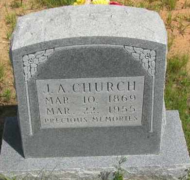 CHURCH, J A - Pope County, Arkansas | J A CHURCH - Arkansas Gravestone Photos