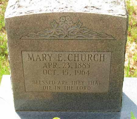 CHURCH, MARY E - Pope County, Arkansas | MARY E CHURCH - Arkansas Gravestone Photos