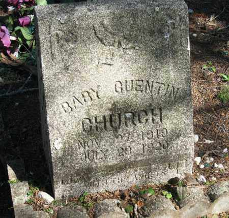 CHURCH, QUENTIN - Pope County, Arkansas | QUENTIN CHURCH - Arkansas Gravestone Photos
