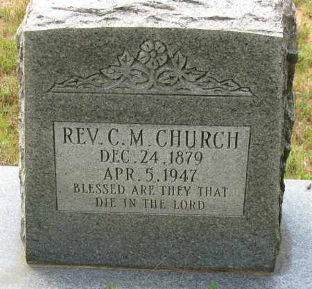 CHURCH, REV C M - Pope County, Arkansas | REV C M CHURCH - Arkansas Gravestone Photos