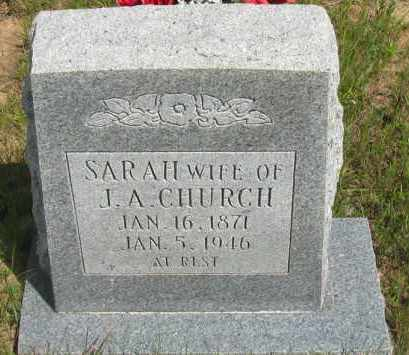 CHURCH, SARAH - Pope County, Arkansas | SARAH CHURCH - Arkansas Gravestone Photos