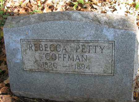 PETTY COFFMAN, REBECCA - Pope County, Arkansas | REBECCA PETTY COFFMAN - Arkansas Gravestone Photos