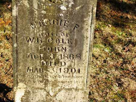 COLE, MAGGIE F - Pope County, Arkansas | MAGGIE F COLE - Arkansas Gravestone Photos