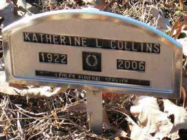 COLLINS, KATHERINE L - Pope County, Arkansas | KATHERINE L COLLINS - Arkansas Gravestone Photos
