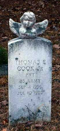 COOK, JR (VETERAN), THOMAS E - Pope County, Arkansas | THOMAS E COOK, JR (VETERAN) - Arkansas Gravestone Photos
