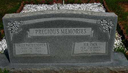 PACK COOPER, EMILY - Pope County, Arkansas | EMILY PACK COOPER - Arkansas Gravestone Photos
