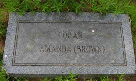 CORAN, AMANDA - Pope County, Arkansas | AMANDA CORAN - Arkansas Gravestone Photos