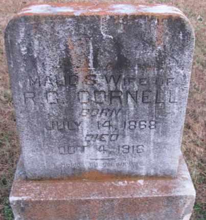 CORNELL, MAUD S - Pope County, Arkansas | MAUD S CORNELL - Arkansas Gravestone Photos