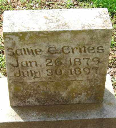 CRITES, SALLIE C - Pope County, Arkansas | SALLIE C CRITES - Arkansas Gravestone Photos