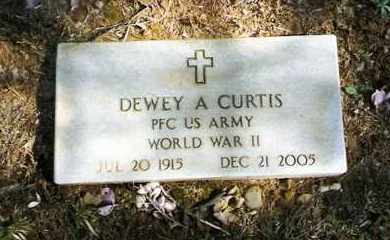 CURTIS (VETERAN WWII), DEWEY - Pope County, Arkansas | DEWEY CURTIS (VETERAN WWII) - Arkansas Gravestone Photos