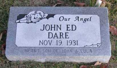 DARE, JOHN ED - Pope County, Arkansas | JOHN ED DARE - Arkansas Gravestone Photos