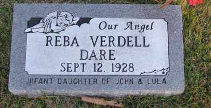 DARE, REBA VERDELL - Pope County, Arkansas | REBA VERDELL DARE - Arkansas Gravestone Photos