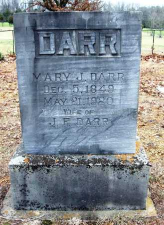 DARR, MARY J - Pope County, Arkansas | MARY J DARR - Arkansas Gravestone Photos