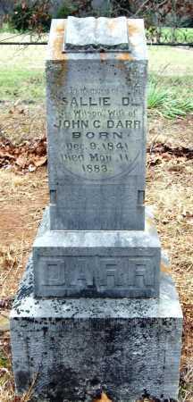 WILSON DARR, SALLIE D - Pope County, Arkansas | SALLIE D WILSON DARR - Arkansas Gravestone Photos